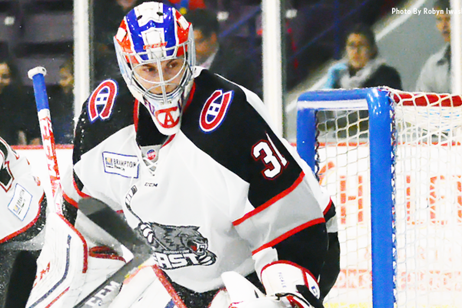 Zach Fucale (Photo by Robyn Iwaskiw / Brampton Beast)