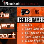 Flyers Report Recap – Rangers