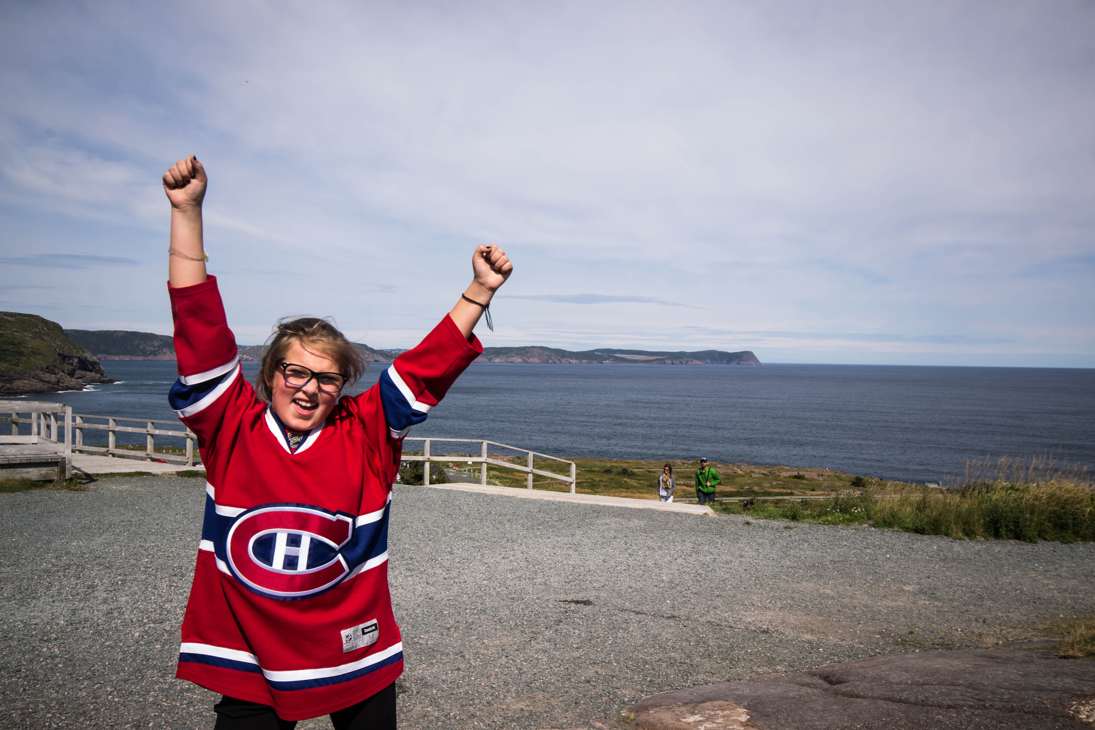 Fan at most easterly point in Canada (Photo by Julia Price   Rocket Sports Media)