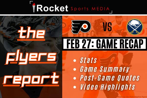 Flyers – Sabres: Improvements Showing   GAME RECAP