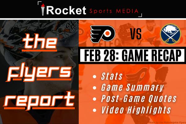Flyers – Sabres: Shutout Sweep   GAME RECAP