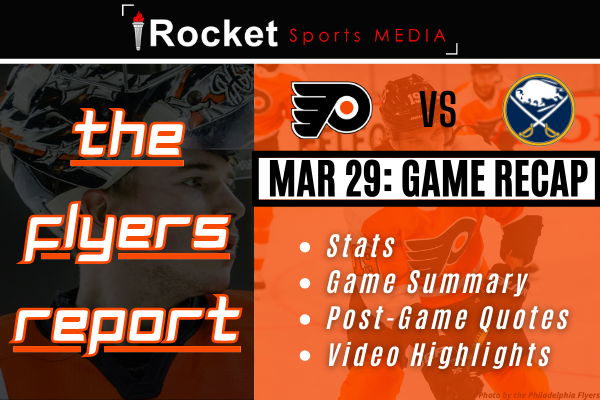 Flyers – Sabres: Playing Catch-Up   GAME RECAP